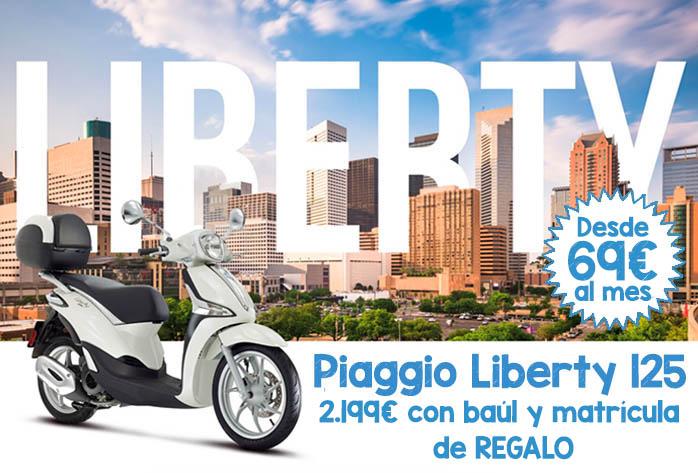 Oferta Piaggio Liberty con baúl y matrícula gratis